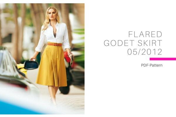 Flared Godet Skirt