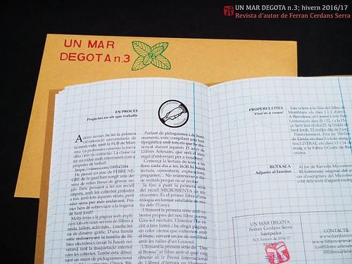 Un mar degota n.3, revista d'autor de Ferran Cerdans Serra, hivern2016/17