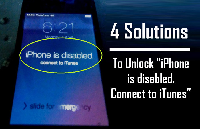 iphone 7 disabled connect to itunes solution
