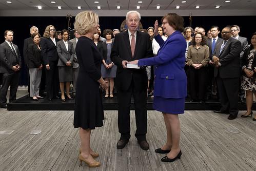 Swearing-In of Acting AG Barbara Underwood