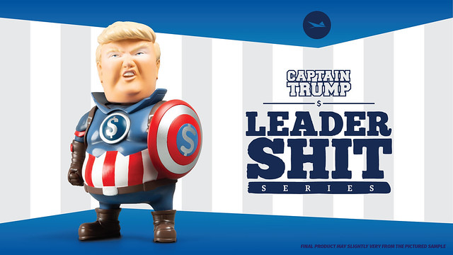連薩諾斯也會怕?! Stingrayz Art Studio 領導者聯萌【川普隊長】the Leadershit Series Captain Trump 迷你可動人偶 Kickstarter 募資中~