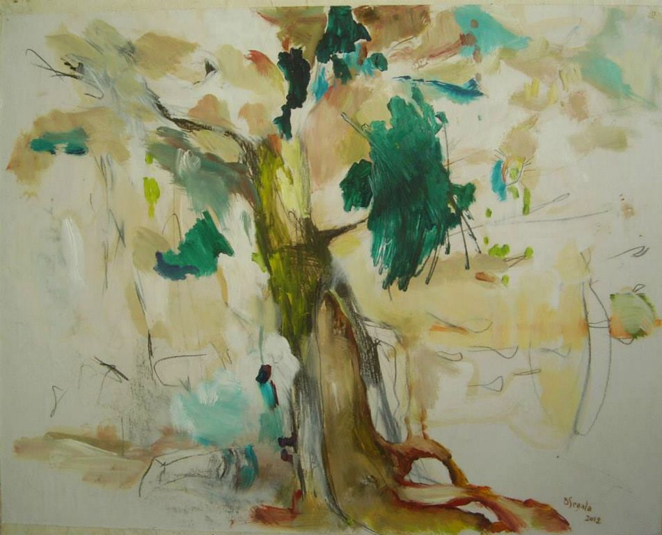 Arbre - 60x73 cm. Oil on paper 2012