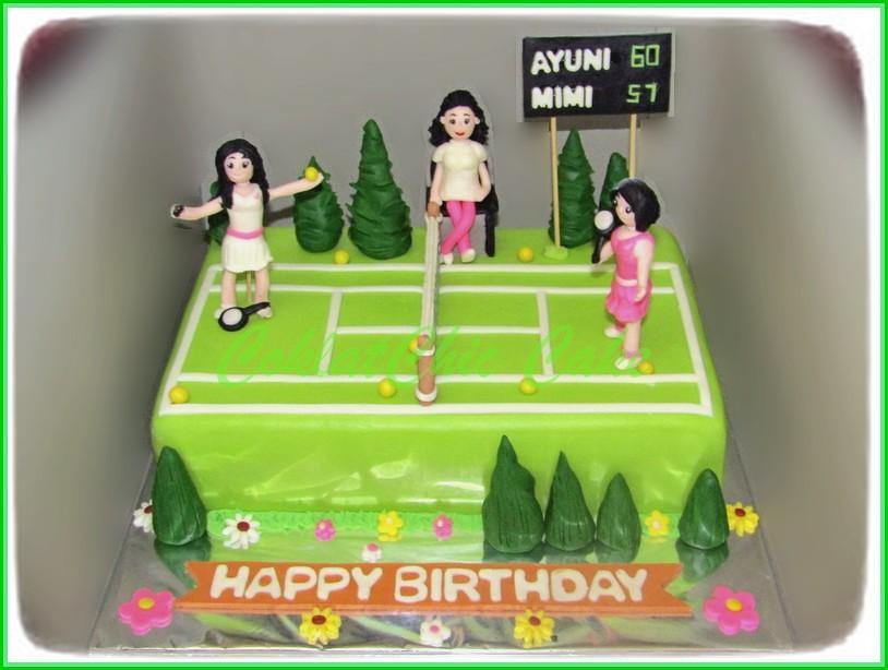 Cake playing Tenis AYUNI & MIMI 20 cm