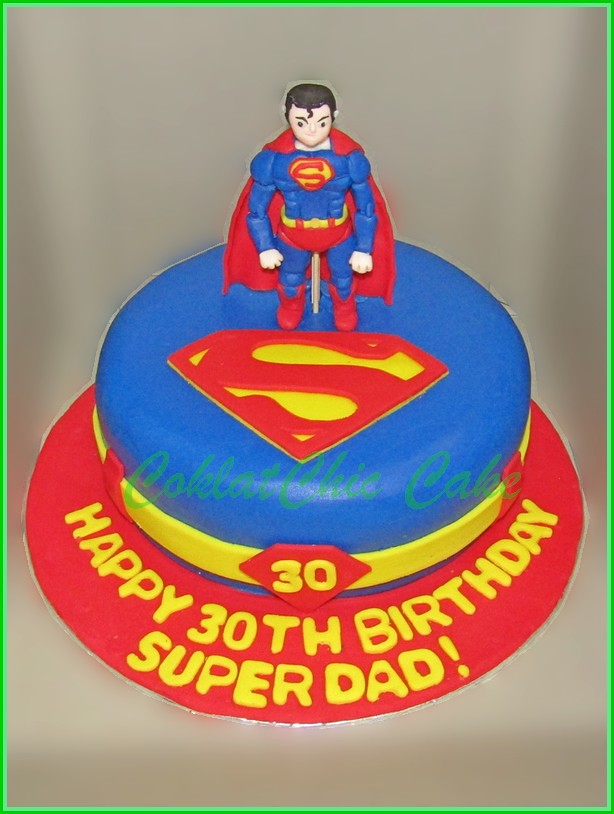 Cake Superman SUPERDAD 18 cm
