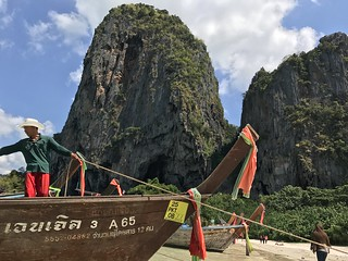 Longtail Boat Captain in Phra Nang beach, Krabi, Thailand