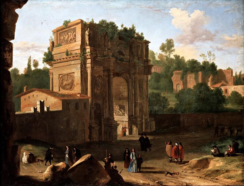 Herman Van Swanevelt - The Arch of Constantine, Rome (1645)