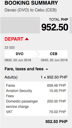Davao to Cebu AirAsia Promo June 2, 2018