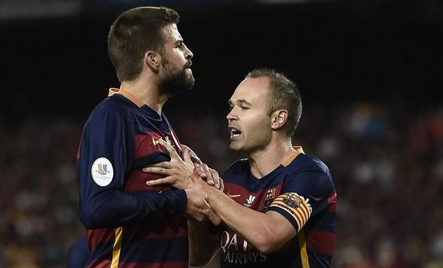 Gerard Pique Sudah Tahu Andres Iniesta Berniat Pergi Saat Barcelona Hadapi AS Roma