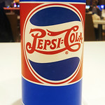Mon, 2018-04-09 20:08 - Pepsi Cola is being served in limited edition paper cups with vintage logos from several eras in Las Vegas, Nevada