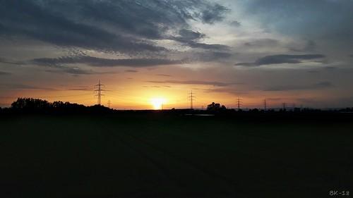 sunset sun sky landscape