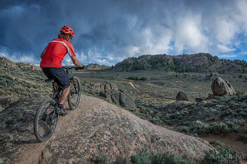 hartmanrocks bike clouds cycling granite lichen me mtb selfportrait selfie storm sunset