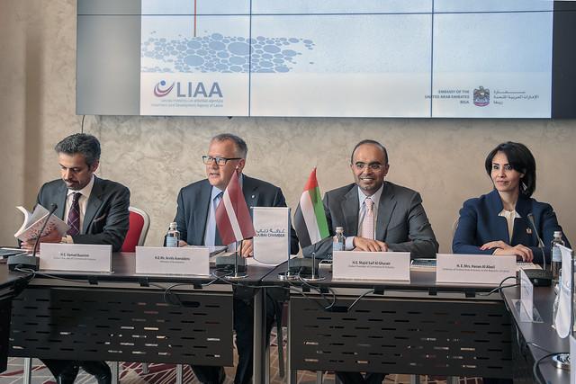 Dubaijas Tirdzniecības un rūpniecības kameras delegācijas vizīte Latvijā.