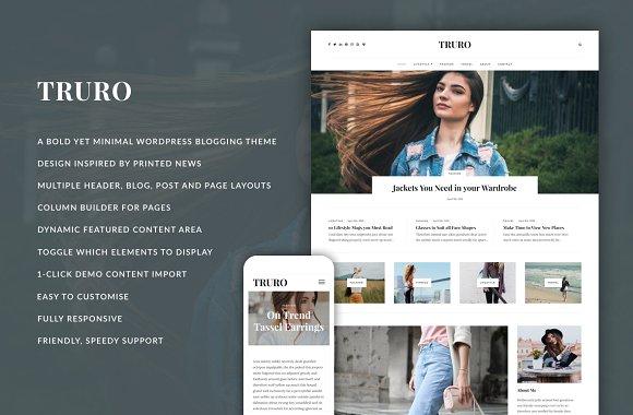 Truro v1.0 - Bold WP Blogging Theme