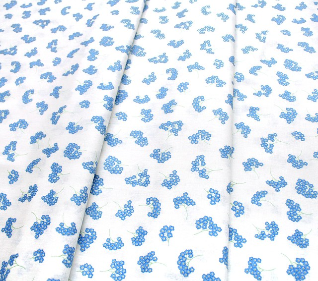 Lewis & Irene Flo's Wildflowers FLO8-3-1 Forget Me Nots On Cream