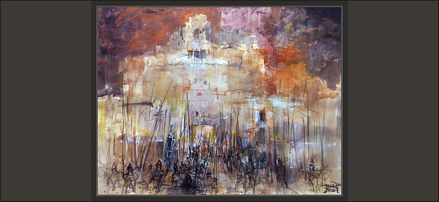 ROMA-ARTE-PINTURA-ROME-ART-ARTWORK-CAIDA-IMPERIO-ROMANO-MAUSOLEO-ADRIANO-INVASIONES-HISTORIA-PINTURAS-ARTISTA-PINTOR-ERNEST DESCALS