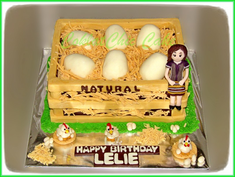 Cake Chicken Eggs LELIE 15 cm