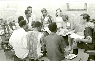 Willard Roth teaching SS class Ghana