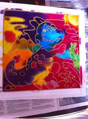 Dino Batik Painting