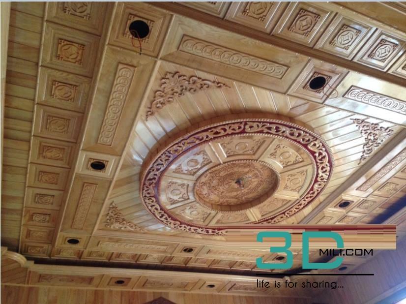91  Wooden Ceiling Free Download - 3D Mili - Download 3D Model