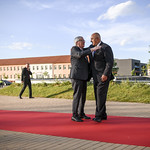 Informal dinner of EU heads of state or government: Arrival and Handshake