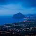 Monte Cofano de nuit depuis Erice