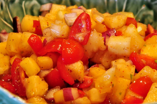Pineapple and Tomato Salsa