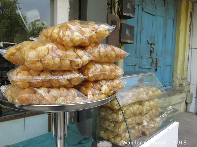 Bags of Pani Puri - Indian Street Food - R C Dutt Road Vadodara Gujarat India