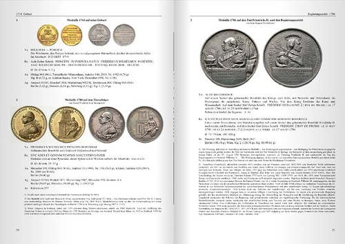 medals of Frederick William II sample page