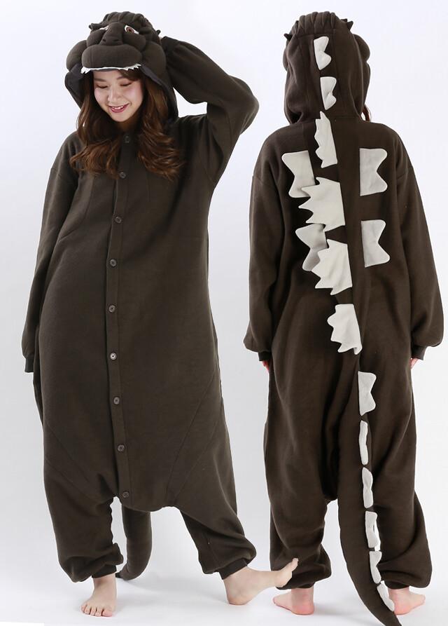 哥吉拉連身睡衣,讓你睡的跟怪獸之王一樣霸氣! 平成ゴジラ着ぐるみ