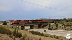 9/9 BNSF 9258 Leads SB Empty Coal Drag Olathe, KS 4-29-18