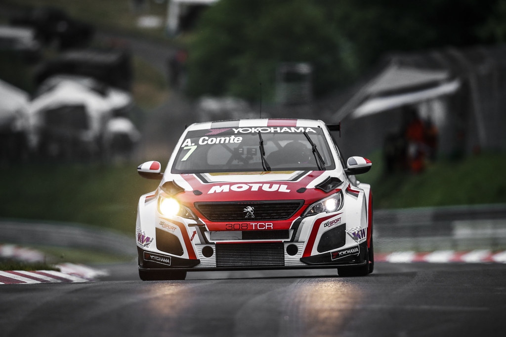 07 COMTE Aurelien (FRA), DG Sport Competition, PEUGEOT 308TCR, action during the 2018 FIA WTCR World Touring Car cup of Nurburgring, Germany from May 10 to 12 - Photo Clement Marin / DPPI