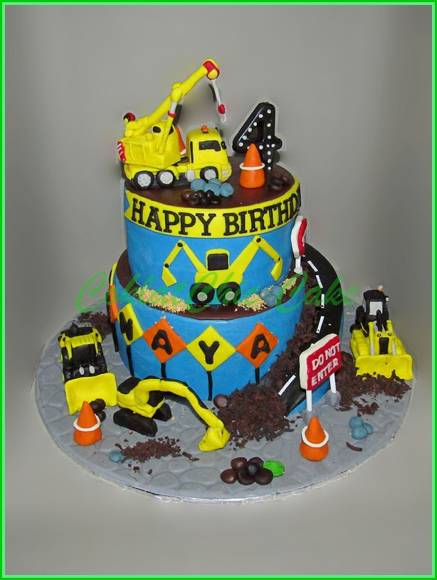 Cake Construction Site BENAYA 18 cm dan 12 cm
