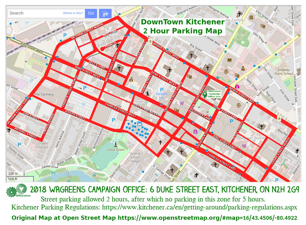 DTK Kitchener 2 Hour Parking Zone