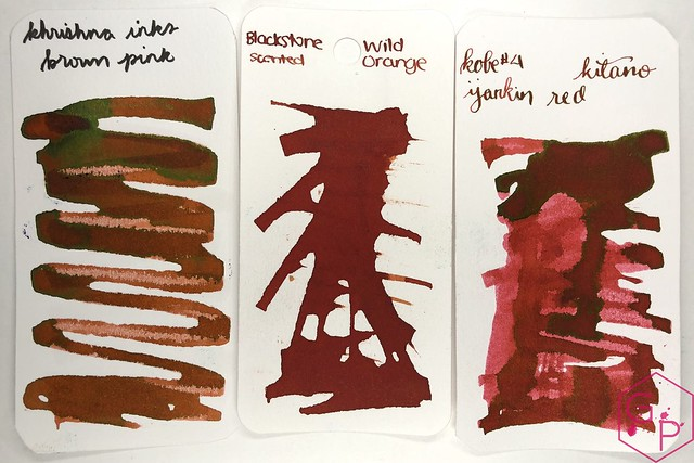 Krishna Inks Brown Pink Fountain Pen Ink Review @PenChalet 2