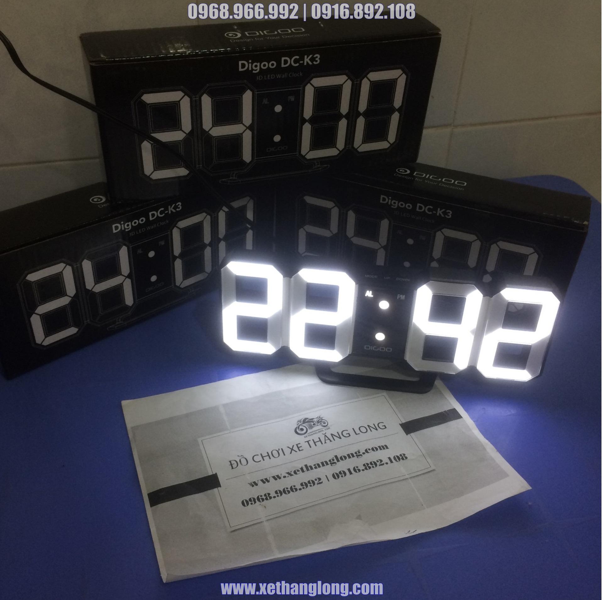 Đồng hồ LED treo tường/ để bàn 3D