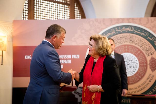 جلالة الملك عبدالله الثاني يرعى حفل توزيع جائزة الملك عبدالله الثاني ابن الحسين لأسبوع الوئام العالمي بين الأديان 2018