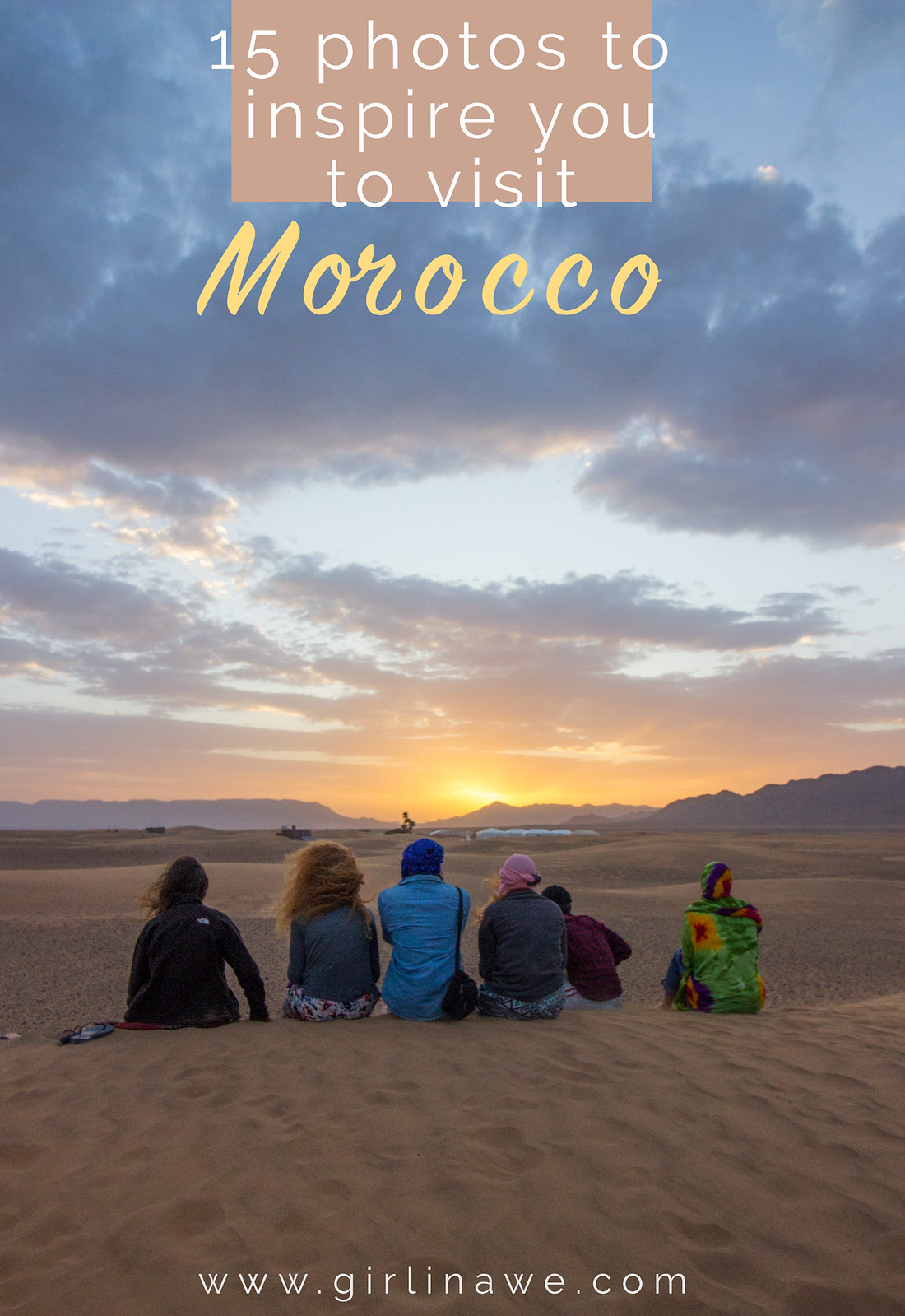 15 photos to inspire you to visit Morocco - watching the sunrise in the Sahara Desert, Zagora.