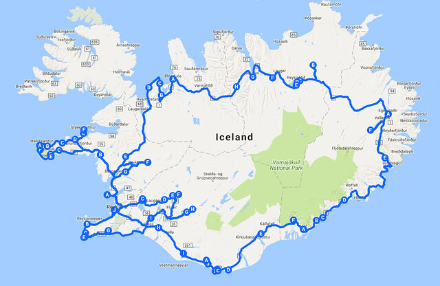 Iceland Entire Route