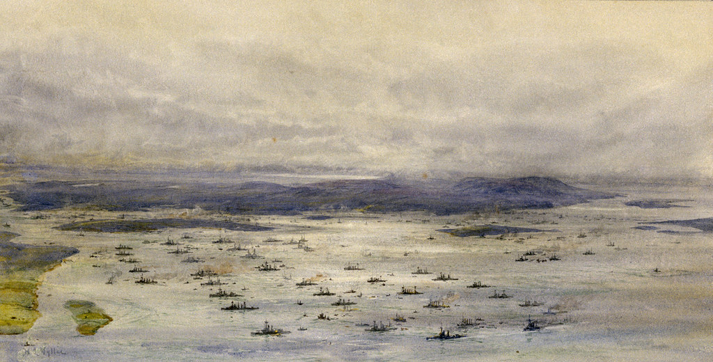"""The Grand Fleet in Scapa Flow"" (circa 1918)"