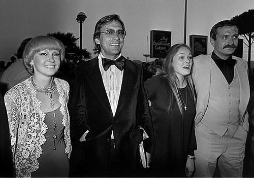 Людмила Гурченко, Андрей Кончаловский, Наталья Андрейченко и Никита Михалков, Канны, 1979 год