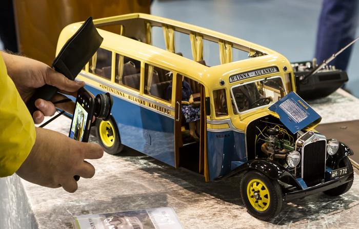 Lahti Classic Car Show 2018 vanha linja-auto vintage bussi pienoismalli auto