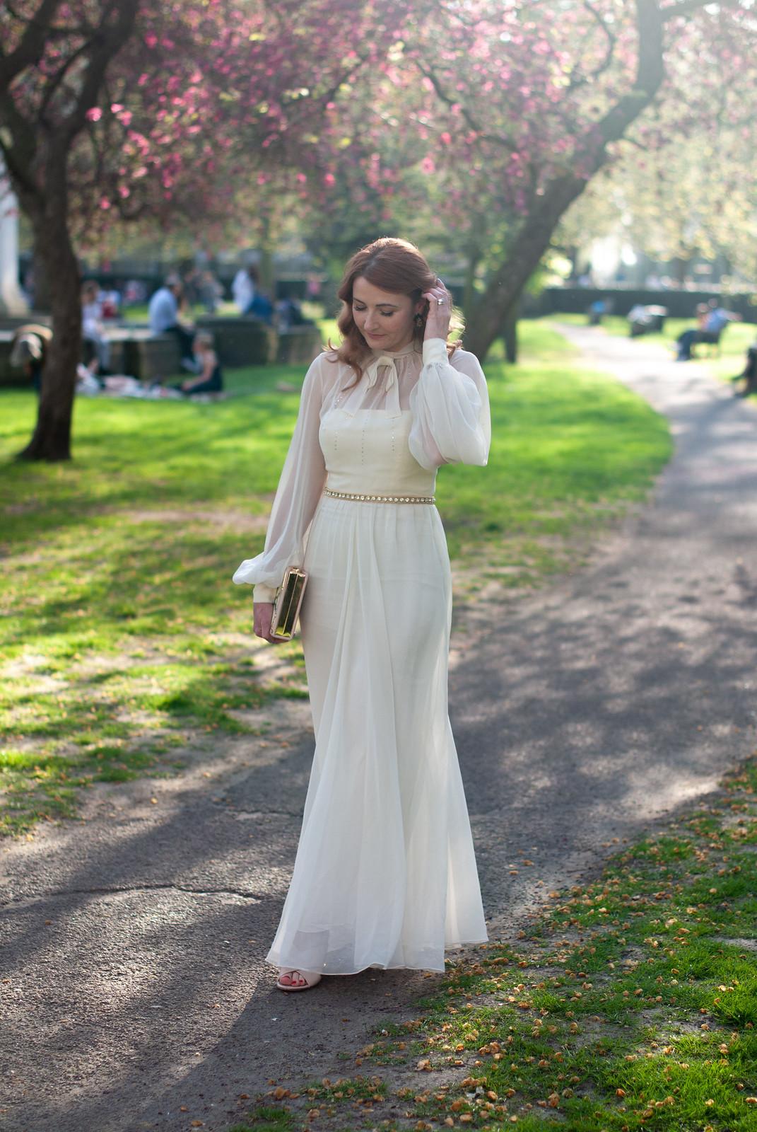 An Ethereal Vintage Evening Dress for the UK Blog Awards (I Won!)