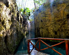 Underground River of Xcaret.Stitched Image.  Nikon D3100. DSC_0610-0613