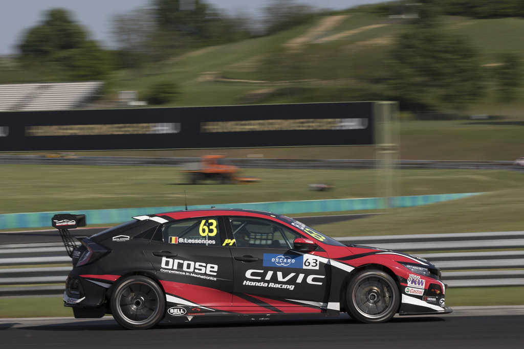63 LESSENNES Benjamin (BEL), Boutsen Ginion Racing, Honda Civic TCR, action during the 2018 FIA WTCR World Touring Car cup, Race of Hungary at hungaroring, Budapest from april 27 to 29 - Photo Gregory Lenormand / DPPI