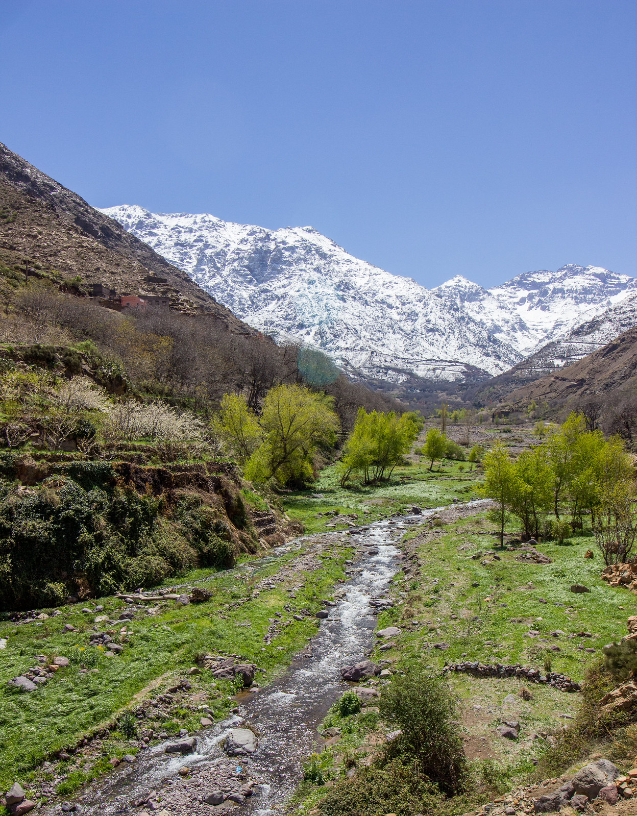 The Imlil valley, looking towards Toubkal