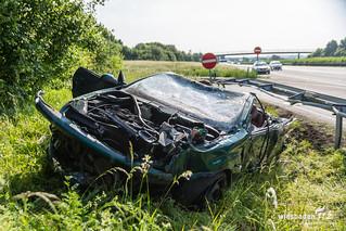 Tödlicher Cabrio-Unfall A66 Nordenstadt 12.05.18