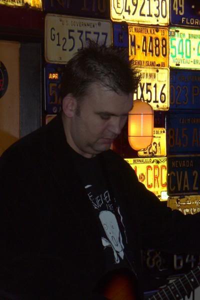 Erik aan de soundcheck.