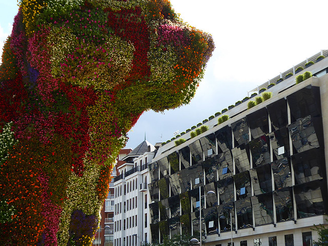 The Museo Guggenheim Bibao has perhaps had more influence on the stunning change in toursim to Basque country than anything else, and standing in front of the museum is its famous flower dog.
