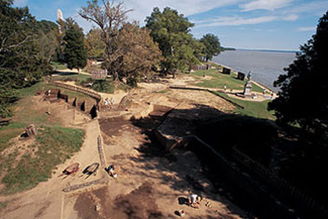 View of archaeological excavations at Jamestown, Virginia.