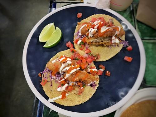 Ensenada style fish tacos